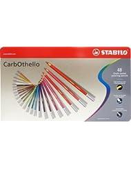 STABILO CarbOthello - Lápiz de color tiza-pastel - Caja de metal con 48 colores