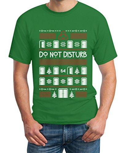 American Do Not Disturb Horror Weihnachten Story T-Shirt Grün