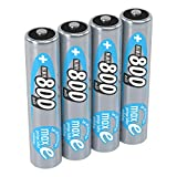 ANSMANN 4x Batterie ricaricabili mini stilo AAA - 800 mAh 1,2 V NiMH - Pila a ricarica veloce - fino a 1000 cicli di ricarica eco-friendly