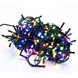 takestop® 500 LED LUCI Colorate Colore Filo Verde Albero di Natale Catena Luminosa Controller 8 FUNZIONI MINILUCCIOLE LAMPADINE