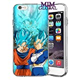 MIM Global Etuis Coque iPhone Dragon Ball Z Super GT Case Cover - Haute Qualite - Goku Rose - Goku Blue - Gohan - Vegeta Blue - DBS - DBZ - DBGT (iPhone 5/5s/SE, Potara)