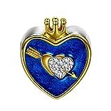 NinaQueen Cupido Abalorio de mujer de plata de ley Charms beads fit Pandora pulseras