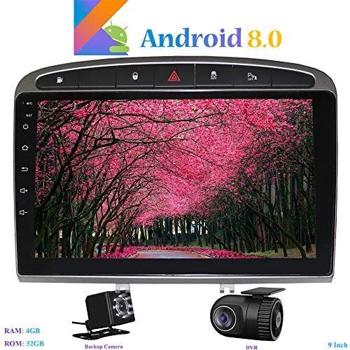 Hi-azul Android 8.0 Autoradio 9 Pulgadas Radio de Coche 8-Core RAM 4G...
