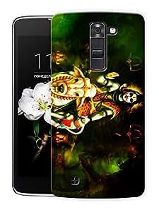 "Humor Gang Shiva Calm - Hindu God Printed Designer Mobile Back Cover For ""LG K7"" (3D, Matte Finish, Premium Quality, Protective Snap On Slim Hard Phone Case, Multi Color)"