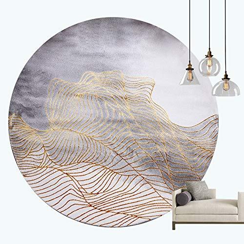 ZCXBB Postmodern Light Luxury Einfache European American Wohnzimmer Sofa Couchtisch Matte Schlafzimmer Nachttisch Teppich Europäischen Und Amerikanischen Stil Runden Teppich (Color : Burst) -