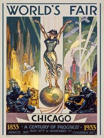 1933 Fine Art (Chicago Welten fair-1933von shefferscher, Glen C.–Fine Art Print erhältlich auf Leinwand und Papier, canvas, SMALL (12.5 x 17 Inches ))