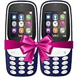 IKALL 4.57 Cm (1.8 Inch) Mobile Phone Combo -K3310 ( Dark Blue&Dark Blue) With Feature Of Currency Detector