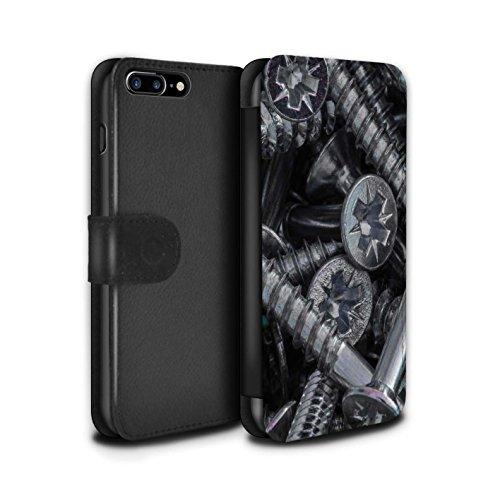 Stuff4 Coque/Etui/Housse Cuir PU Case/Cover pour Apple iPhone 7 Plus / Vis & Boulons Design / Matériel Bricolage Collection Tête de Vis