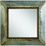 Creative Co-Op Square Wall Mirror With Distressed Finish