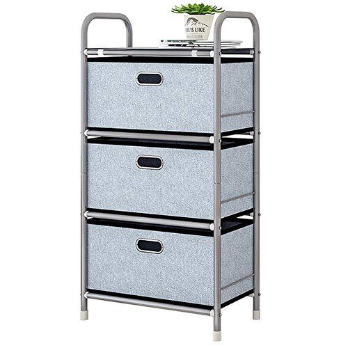 NNDQ Vertikale Kommode Storage Tower 3 Schubladen, Stabiler Stahlrahmen, Easy Pull-Stoffbehälter für Schlafzimmer, Spielzimmer, Eingangsbereich, Schränke -