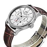 PARNIS Complication 2116 Automatik Herrenuhr Edelstahl-Armbanduhr Lederarmband MIYOTA Schnellschwinger Kaliber 9100 mit Vollkalender und Gangreserve-Anzeige - 3