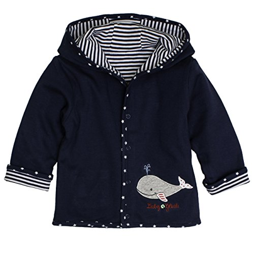 SALT AND PEPPER Baby-Jungen Jacke BG Jacket Reversible, Blau (Navy Blue 450), 56