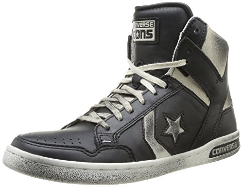 Converse, Weapon HI Leather/Suede, Sneaker, Unisex - adulto Black/Vap.Grey