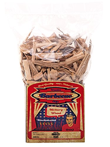 Axtschlag Räucherchips, Wood Smoking Chips Hickory, Holz, 240 g Hickory Bogen