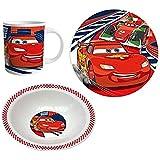 Disney Cars Chicos Set desayuno, 3 piezas 2015 Collection - Rojo