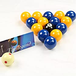 Aramith League Edition Yellow & Blue Pool Balls - Pro Cup Spotted Cue Ball