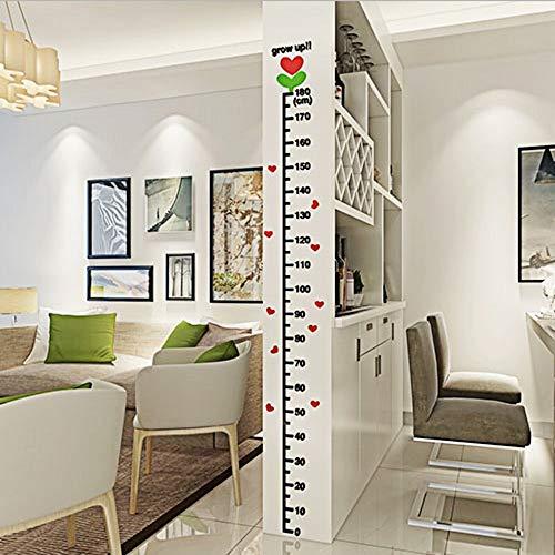 YUSDK Kinder Höhe Füße Wandaufkleber Acryl dekorative Aufkleber 3D Stereo Wandaufkleber Höhe Aufkleber Baum Knospen