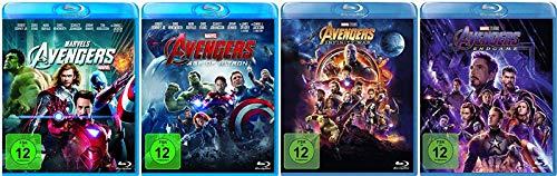 Avengers 1-4 (1+2+3+4) Komplett / Teil 1 + Age of Ultron + Infinity War + Endgame [Blu-ray Set] Marvel