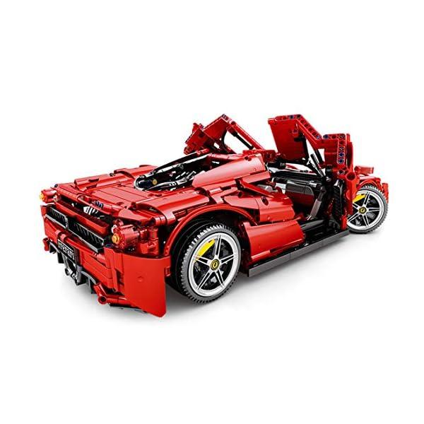 Tosbess Technic Auto Sportiva Ferrari Enzo, 2,4Ghz RC 1:10 Auto con Motore e Telecomando, 2615 Pezzi Blocchetti di… 4 spesavip