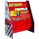 Disney Bücher Regal - Aufbewahrungsregal - Kinder Regal - Buch Organizer mit Motivauswahl (Cars)