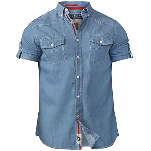 D555 Duke Mens Nathan King Size Twin Pocket Shirt