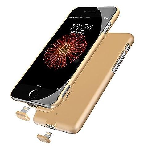 Goldfox® 2000mAh UltraDünne iPhone 6 Plus Akku Schutzhülle Akkuhülle Ladegerät Hülle Externe Batterie Backup Case Aufladbar Powerbank für iPhone 6 Plus/6S Plus (5,5 Zoll)