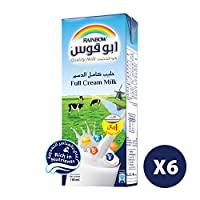 Rainbow UHT Milk Full Cream, 6 x 185 ml
