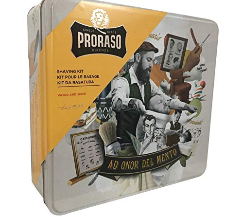 Proraso - Vintage Shaving Kit Wood and spice set Rasage Barbe