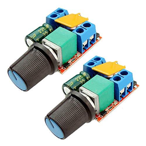 2 stücke Mini DC Motor PWM Drehzahlregelung Fahrer Bord 3 V-35 V 5A DC Motor Drehzahlregelung Schalter LED Dimmer
