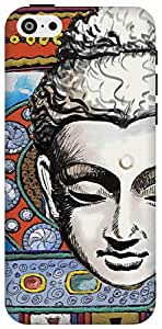 The Racoon Lean printed designer hard back mobile phone case cover for Apple Iphone 5c. (Buddhist T)