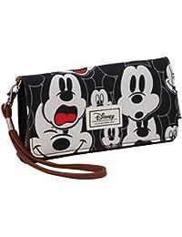 Karactermania 36385 Disney Classic Mickey Visages Monederos, 20 cm, Negro