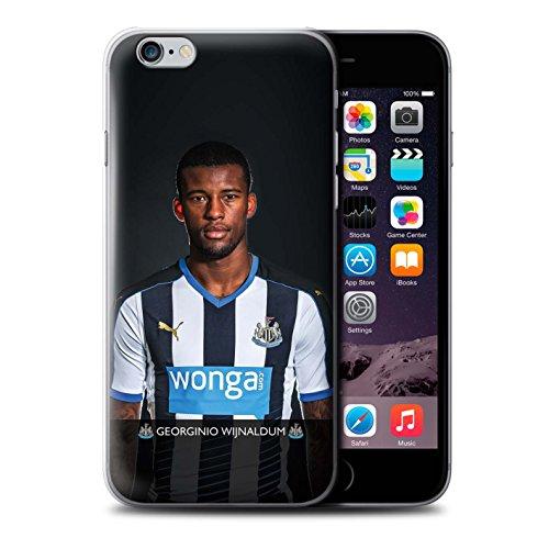 Offiziell Newcastle United FC Hülle / Case für Apple iPhone 6 / Pack 25pcs Muster / NUFC Fussballspieler 15/16 Kollektion Wijnaldum