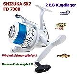 SHIZUKA SK 7 7000 mit Schnur Pilkrolle Hochseerolle Raubfischrolle