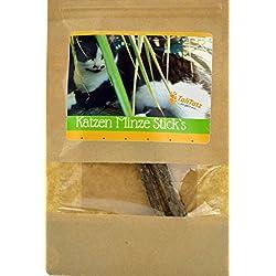 Tali Tatz Katzenminze Sticks ein natürliches Katzenminzspielzeug für gesunde Zahnpflege im 2er Set, Kaustäbchen für die Zahnpflege, Zahnstein oder Mundgeruch Katzen lieben Minze