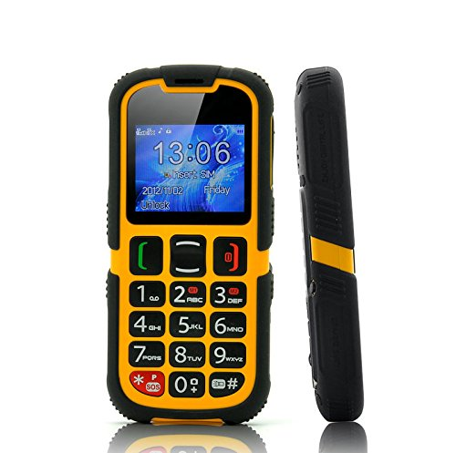 Senior Citizen Phone Rugged - SOS, Waterproof, Drop Resistant, Dual Sim, Flashlight, GSM, Bluetooth offer
