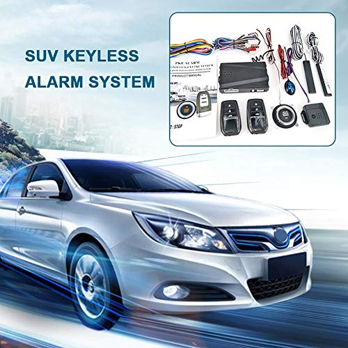 Little Fairy Fang 12V Car SUV Keyless Entry Engine Start SUV Keyless Alarm System Push Button Remote Starter Stop Auto Car Accessories Tool (Auto-remote-starter)