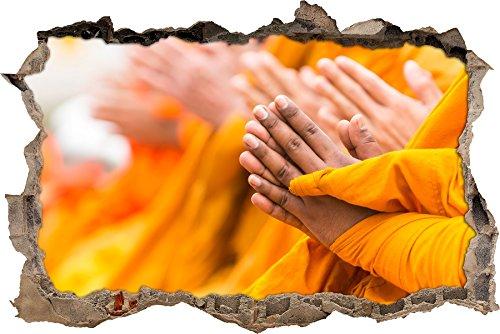 la preghiera religiosa svolta monaci muro in look 3D, parete o in formato adesivo porta: 92x62cm, autoadesivi della parete, autoadesivo della parete, decorazione della parete - religiosi Articoli