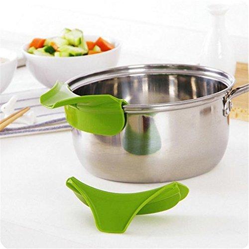 HENGSONG Küchenhelfer Silikon Ausgusstülle Mess freies Ausgießen Flüssigkeit Suppe Öl aus Schüsseln Pfannen Töpfe - 3