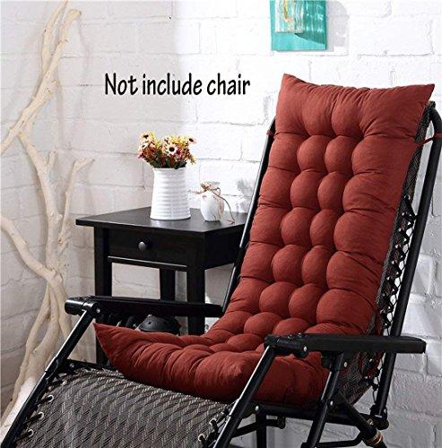 Cojín para silla de respaldo alto, para casa, oficina, viscoelástico, con botones, café, 128*48*8cm