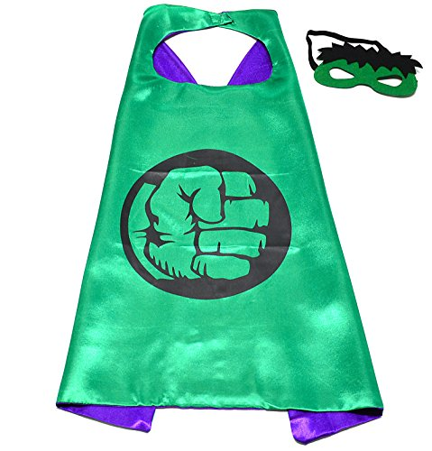 Hulk Superhelden-Kostüme für Kinder - Cape und Maske - Spielsachen für Jungen und Mädchen - Kostüm für Kinder von 3 bis 10 Jahre - für Karneval, Fasching oder Motto-Partys! - (Kostüme Hulk Kinder)