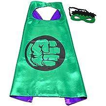 Hulk Super Héroes de disfraces para niños - Cape y máscara - Juguetes para niños y niñas - Disfraz para niños de 3 a 10 años - para Carnaval, o temática de fiestas. Mungo - King - kmsc004