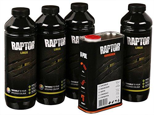Preisvergleich Produktbild UPOL RAPTOR Pick Up Transportflächen Fahrzeug Beschichtung einfärbbar 4 Liter