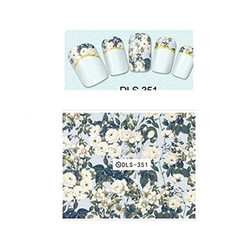 Born Pretty 1 Planche Sticker Water Decals Déco Ongles Nail Art Fleur Art
