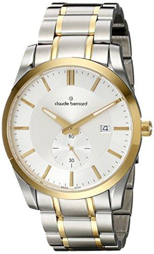 Claude Bernard Men's 65002 357J AID2 Classic Small Second Analog Display Swiss Quartz Two Tone Watch