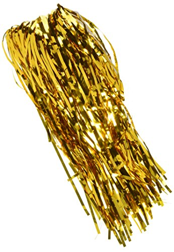 SUNBEAUTY 1 Set of Metallic Tinsel Foil Fringe Curtains for Party Photo Backdrop Wedding Decor (Gold) by Sunbeauty