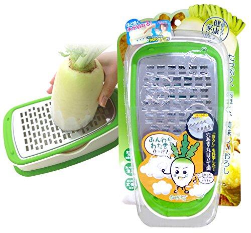 家族で大根おろしをたっぷり楽しめる ののじ 大根スリスリBOX(グリーン/ホワイト) LBG-06GW