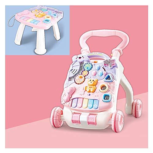 WMYJXD Andador para Bebés, Andador para Bebés, Andador Multifuncional De Juguete, Carrito para Sentarse, Andador De Música ABS, Tornillo Ajustable, Adecuado para Niños Pequeños,D