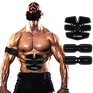 Abdominal Muscle Trainer Ab Toning Belt, Muscle Toner Toning Belt Ab Belts Core Training Gear Abs Exercise Machine Waist Trainer, Belly Support Belt Home Gym Equipment Fitness Machine USB Charge 02
