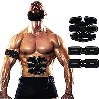 Ceinture Abdominale, Electrostimulateur Musculation Abdominaux Bras Cuisses Appareil Fitness pour Hommes Femmes--05 USB Charge