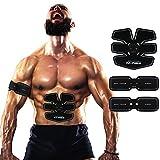 Elektrostimulation Muskeltrainer Frauen/Mann Bauch/Beine/Taille Massage-gürtel Wiederaufladbar USB Ladegerät--05(2-Gerät)